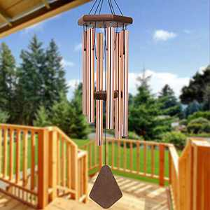 Wind Chimes Outdoor Deep Tone, 30 Inch Wind Chimes Outdoor, Memorial Wind Chimes with Hook, Mother's Day/Housewarming, Patio, Garden, Yard, Home Décor. Rose-Gold