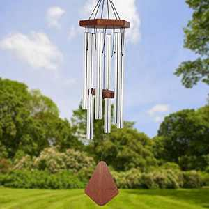 Wind Chimes Outdoor Deep Tone, 30 Inch Wind Chimes Outdoor, Memorial Wind Chimes with Hook as Gifts for Mother's Day/Housewarming/Christmas, Patio, Garden, Yard, Home Décor. Silver