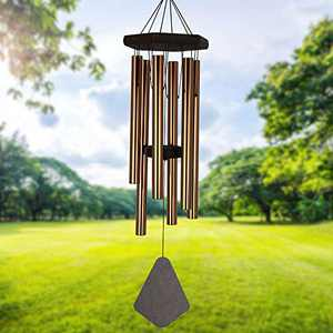 Wind Chimes Outdoor Deep Tone, 30 Inch Wind Chimes Outdoor, Memorial Wind Chimes with Hook as Gifts for Mother's Day/Housewarming/Christmas, Patio, Garden, Yard, Home Décor, Bronze