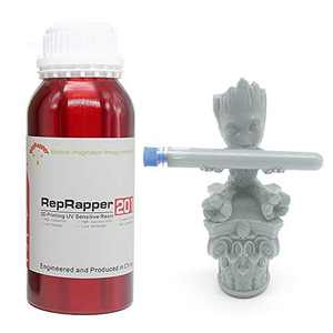 Reprapper 201 3D Printer Resin, 405nm Fast UV-Curing Standard Photopolymer Resin for LCD 3D Printing Grey 500g