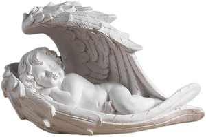 Garneck Baby Angel Cherub Sleeping Angel Figure Indoor or Outdoor Garden Statue Figure Desktop Decoration