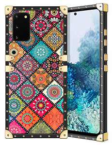 Coolden for Galaxy S20 Case Slim Protective Stylish Luxury Cover for Women Girls Rugged Corner Soft TPU Shell Cover for Samsung Galaxy S20 6.2 inch Retro Mandala Brown