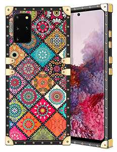 Coolden for Galaxy S20+ Plus Case Slim Protective Stylish Luxury Cover for Women Girls Rugged Corner Soft TPU Shell Cover for Samsung Galaxy S20 Plus S20+ 6.7 inch Retro Mandala Brown