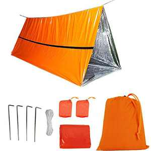 Funlove 2 Person Survival Emergency Tent – Use As Survival Tube Tent, Emergency Shelter, Survival Tarp