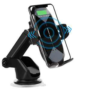 Wireless Car Charger Mount, HonShoop Auto-Clamping Qi 10W 7.5W Fast Charging Car Phone Holder Mount Air Vent Compatible with iPhone X/XR/Xs/Xs Max/8/8 Plus ect