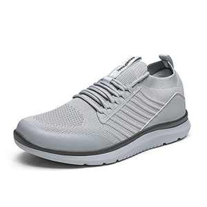 Bruno Marc Men's Lightweight Fashion Sneakers Casual Walking Shoes Knit Mesh Breathable Sneakers Tennis Shoes, Light/Grey/Techroom-2, Size 12