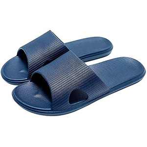 Women/Men's Shower Sandals Light weight and strips Bathroom Slippers Soft and Non Slip Indoor Sandals House Pool Shoes