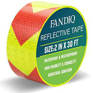 Reflective Tape Red Yellow 2 IN X 30 FT perfect for Trucks Cars Industrial Marking Tape Heavy Duty Conspicuity Tape (Red&Yellow)