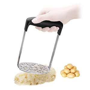 Snowyee Potato Masher, Potato Ricer Stainless Steel Press Utensil (Black / 1PCS)
