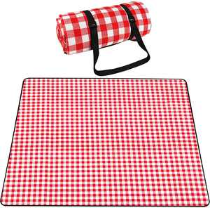 SKYSPER Picnic Blanket Large Outdoor Carpet Mat Waterproof Foldable Camping Tote Light Compact Oversized Rug(200x200cm)