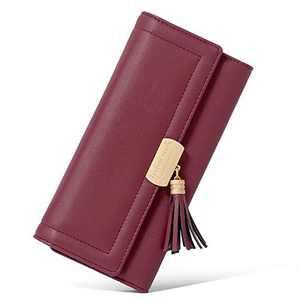 CLUCI Women Wallet Soft Leather Designer Trifold Multi Card Organizer Lady Clutch