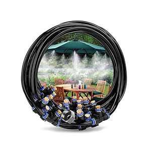Innoo Tech Misting Cooling System 32.8FT(10M) Misting Line + 12 Brass Mist Nozzles + 2 Brass Adapters Outdoor Mister for Patio Garden Greenhouse Trampoline for waterpark