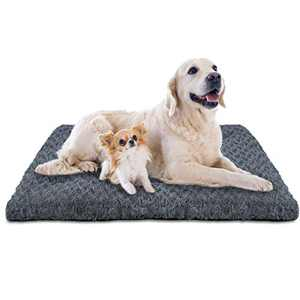 INVENHO Dog Bed Crate Pad Mat Soft Washable Anti-Slip Kennel Bed for Large Medium Small Dogs and Cats 40''x27''