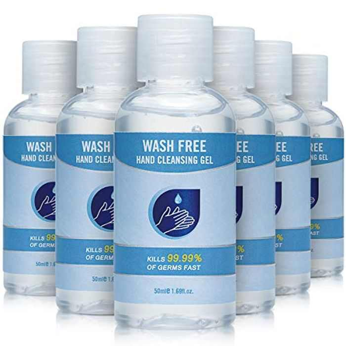 Antibacterial Hand Wash,Gentle Hand Soap,Alcohol Hand Gel,Cleansing Hand Wash that Protects Hands(Pack of 6 x 50 ml)Quick-drying Liquid Hand Soap