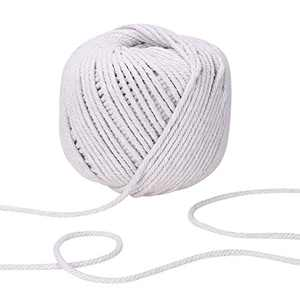 Macrame Cord 4mm x 120Yards / 110m, 3 Strands Twist Blended Cotton Rope for Handmade Wall Hanging Weaving Tapestry