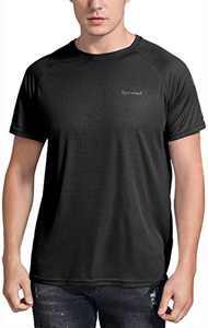 Spowind Men's Quick Dry Short Sleeve T-Shirt Moisture Wicking Athletic Workout Running Shirts Black
