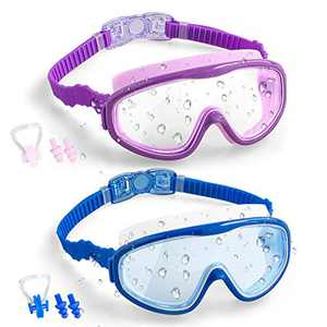 Vetoo Kids Swim Goggles 2 Pack Anti-Fog Leak Proof Kids Swimming Glasses(Age 4-15)