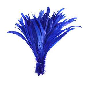50PCS Rooster Coque Tail Feathers - 12-14inch Natural Tail Feather for Costume Wedding Theme Party Decoration(Royal Blue)