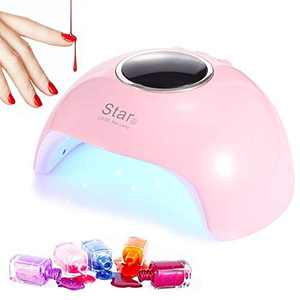 LEDGLE UV Lamps for Gel Nail Polish, 36W Nail Dryer Curing Lamp with 3 Timers Auto Sensor, LED Nail Lamp with LCD Display, Professional Nail Art Tools Light with USB Plug