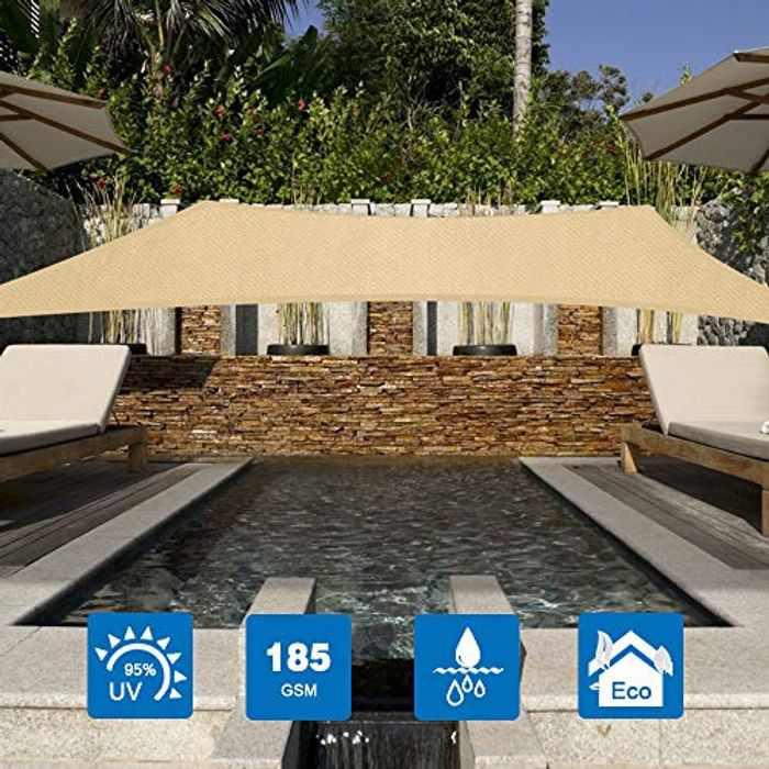 Innoo Tech Sun Shade Sail 2 x 3 m Rectangle Awning, 95% UV Block Canopy, Perfect for Outdoor Patios Garden Backyard Pergola Decking Swimming Pool