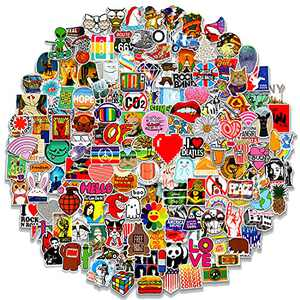 200 Pcs Featured Stickers Pack, Fast Shipped by Amazon, Random Vinyl Skateboard Skins Suitable for Children & Teens of All Ages, Cool Decals for Helmet Flask Laptop Bike Car Phone Case Suitcase
