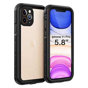 Fansteck iPhone 11 Pro Waterproof Case, (5.8 inch) IP68 Full-Body Protective Case with Built-in Screen Protector, Snowproof/Dirtproof/Shockproof Case, High Sensitive Screen Touch