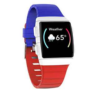 AUPALLA Activity Tracker, Fitness Watch with Oxygen Saturation SpO2 Heart Rate Sleep Monitor Track Running Swimming Walking Steps Calories Burned app Works on iOS Android Smart Phone ONLY (Blue/Red)