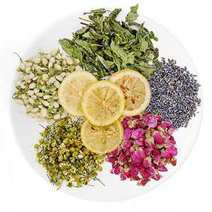 TAEERY Dried Flowers for Soap Making Scents Kits, DIY Soap Supplies, Candle Making, Includes Lavender, Rose, Jasmine, Chrysanthemum, Lemon, Mint Set-Food Grade Bulk Dried Flowers