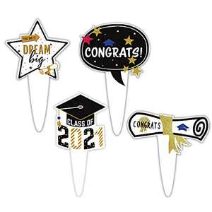 NWK Cupcake Topper Graduation Class of 2021 Pack of 72 Graduation Party Grad Cake Party Supplies Decoration