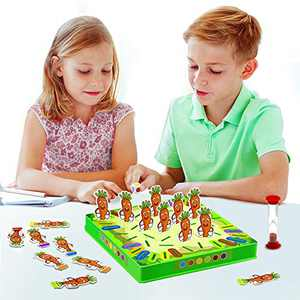VATOS Board Game, Kids Memory Game Help Color Recognition and Brain Development, Family Tabletop Matching Game for Kids Toddlers and Teens, Learning Toys Gift for 3,4,5,6,7 Years Old Boys & Girls