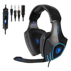 Xbox Headset, Stereo Surround Sound Gaming Headset with Mic for Xbox One, PS4, PS5, 3.5mm Noise Canceling Wired Over Ear Headphones with Revolution Volume Control for PC, MAC, Nintendo Switch
