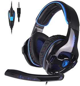 Xbox Headset, Stereo Surround Sound Gaming Headset for PS4, PS5, PC, Xbox One, Noise Cancelling Over Ear Headphones with Mic for Laptop Mac Nintendo Switch Games
