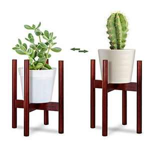 sanlinkee Wooden Plant Stand Mid Century Flower Pot Holder Plant Pot Stand Modern Flower Pot Display Stand Indoor and Outdoor Decor (Plant and Plant Pot Not Included)
