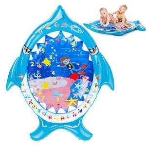 Tummy Time Water Mat, Infant Baby Toys 3 to 6 Months, Baby Activity Play Centers for Newborn Girl Boy