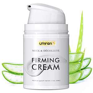 Neck Firming Cream For Tightening Lifting Sagging Skin, UMRAN Crepe Neck & Chest Firming Cream, Reducing Wrinkles, Anti Aging Moisturizer for Neck & Décolleté, Turkey Neck Firming Cream
