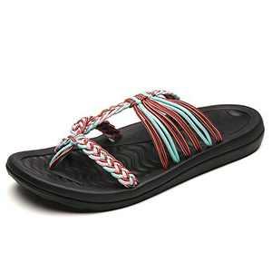 UTENAG Comfort Flat Sandals for Womens Summer Pink Color Strappy Flip Flops Ladies Gradiator Dress Sandles Size 7