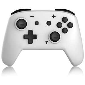 Switch Pro Controller for Nintendo Switch/Switch Lite, momen Wireless Controller Gamepad with Motion Vibration Turbo Speed Function and Gyro Axis (White)