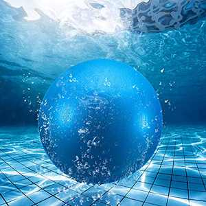 Swimming Pool Ball with Hose Adapter 9 Inch Fills with Water Pool Ball for Under Water Passing Dribbling Diving Pool Games Water Parties for Teens Adults