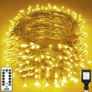 KNONEW LED String Light 1000 LED 394ft Long Christmas Lights with 8 Modes & Timer, Indoor Outdoor Plug in Fairy Lights for Home Christmas Wedding Party Room Yard Tree Holiday Decorations (Warm White)