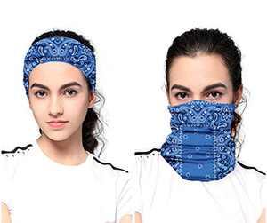 Youdiao Seamless Neck Gaiter Face Mask Face Cover Bandana Balaclava Scarf Headband for Women Man Kids - Protection Lightweight Reusable