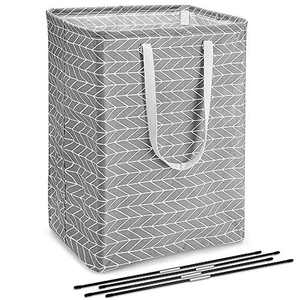 sunvito 72L Foldable Laundry Hamper, Large Clothes Basket, Simple Style Clothes Hamper for Clothing Organization/Toys Storage/Bathroom (Gray)