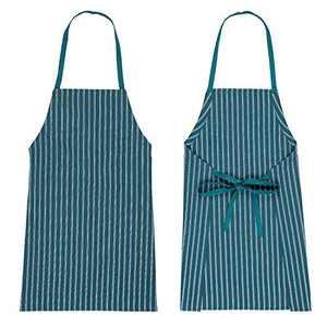 HARORBAY Adjustable Cotton Apron for Women Men, Kitchen Cooking Apron Blue