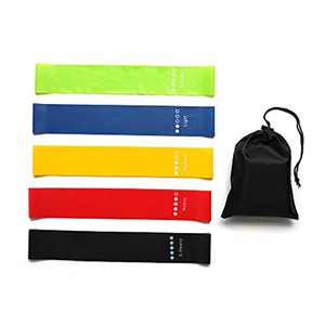 TOPIA STAR Resistance Bands, Exercise Bands, Workout Bands, Bands for Working Out, Elastic Bands for Exercise, Finger Stretcher, Booty Bands, Resistance Bands Set (Five Color, 5PCS)