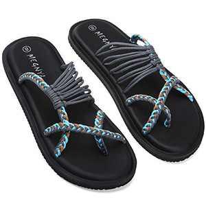 UTENAG Womens Flip Flops Yoga Mat Beach Strap Flat Sandals