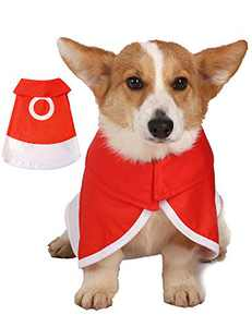 Impoosy Dog Halloween Costume Cat Clothes Funny Anime Cosplay Pet Clothing for Small Dog Cats Outfits (Small,Red)