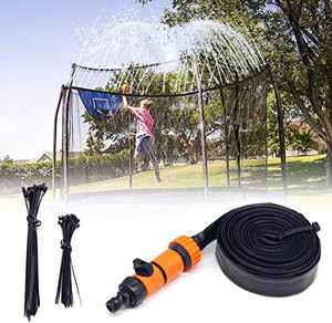 INMUA Trampoline Sprinkler, Outdoor Trampoline Water Sprinkler Waterpark Summer Fun Outdoor Toys Sprinkler Accessories for Kids (39.3ft/12M)
