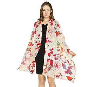 DANA XU 100% Pure Wool Fashion Pashmina Shawls and Wraps Scarfs (Red01)