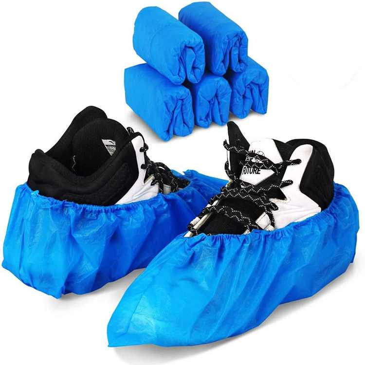 WUJUN 50 Pack (25 Pairs) Blue Disposable Shoes Covers Boot Cover Waterproof, Dust-proof, Non-slip, One Size Fit Most, Protect Your Shoes, Carpets and Floors. Cleaning Accessories