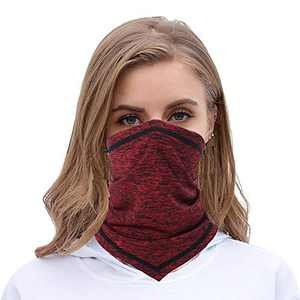 Cooling Neck Gaiter Face Mask - Sun UV Protection Neck Cover Bandana Face Scarf (Red)