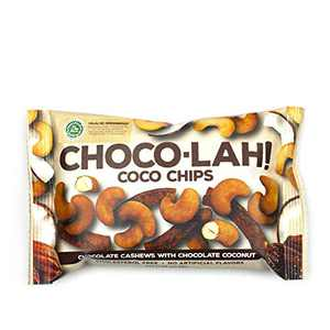 East Bali Cashews - Coco Chips Choco-lah! - Chocolate Cashews with Chocolate Coconut - Protein Packed, Non-GMO, Cholesterol Free Snack - Naturally Flavored - 10 Count - 1.06oz